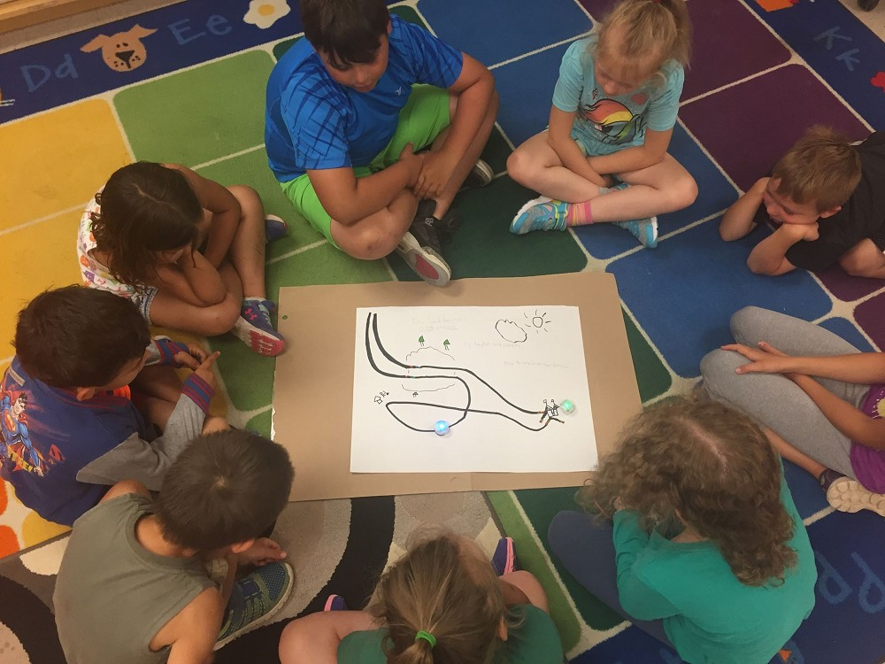 Group of students, play based summer learning
